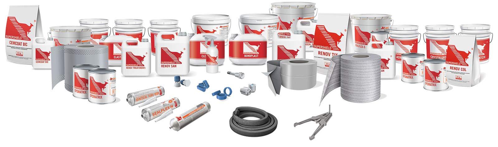 supershield range products