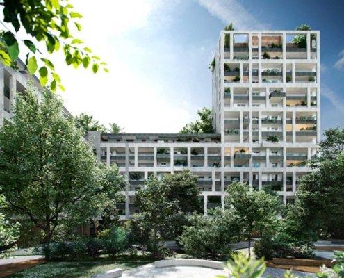 1 - Rendering - Commerciale - Residenziale Via Tacito Milano - Milano City Village - Percassi